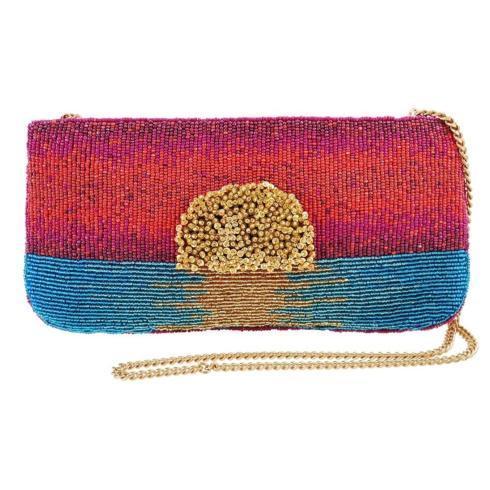 $155.00 Paradise Found Beaded Sunset Crossbody Clutch Handbag