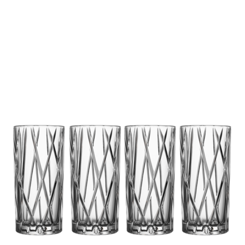 Orrefors  City Highball (Set of 4) $60.00