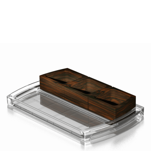 Orrefors  Street Condiment Tray $150.00