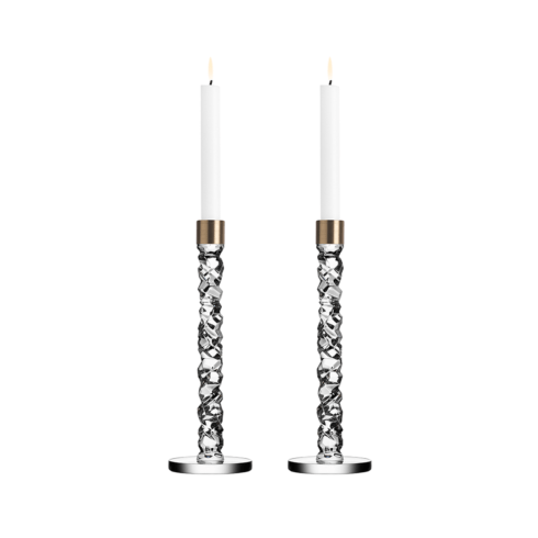 Carat Candlesticks (large,brass)