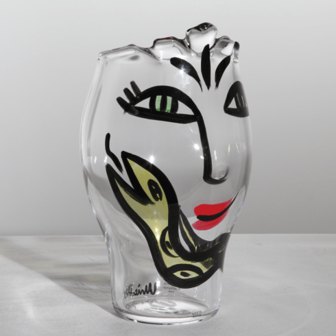 $285.00 Vase (clear/yellow)