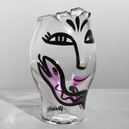 $285.00 Vase (clear/pink)