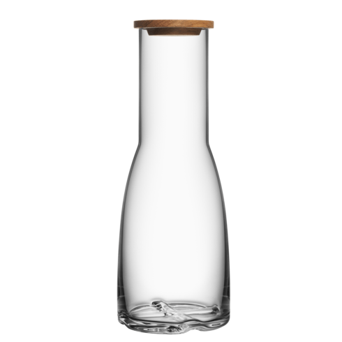 Kosta Boda  Bruk Carafe with Oak Lid (clear) $49.95
