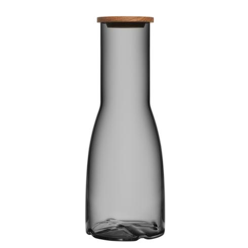 Kosta Boda  Bruk Carafe with Oak Lid (smoke grey) $49.95