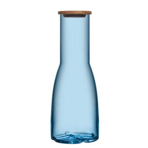 Kosta Boda  Bruk Carafe with Oak Lid (water blue) $49.95