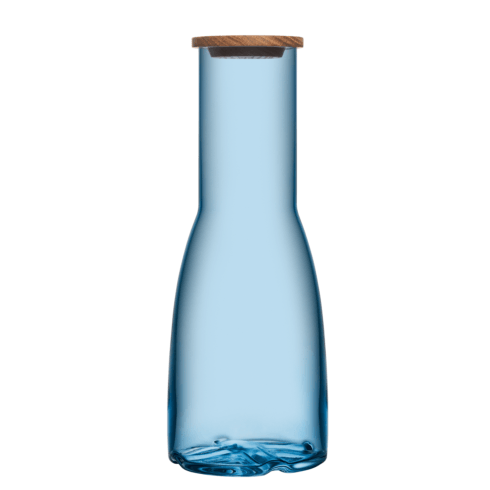 $49.95 Carafe with Oak Lid (water blue)