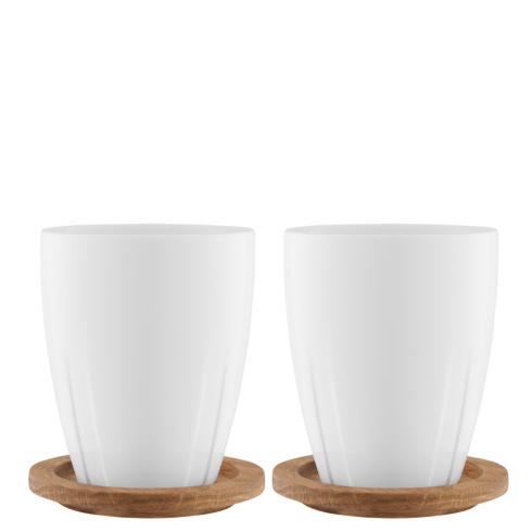 $39.95 Porcelain Mug with Oak Lid (pair)