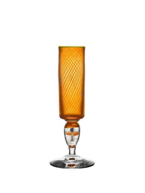 $675.00 Footed Vase - Orange