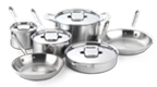 $1,100.00 Polished D5 10 pc Stainless Set
