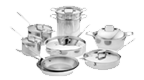 $1,700.00 Polished D5 15 pc Stainless Set