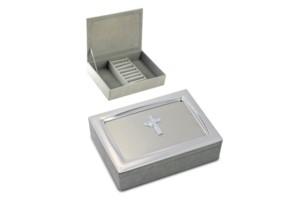 $10.99 Cross Covered Trinket Box
