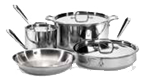 $750.00 Tri-Ply 7 pc Stainless Set