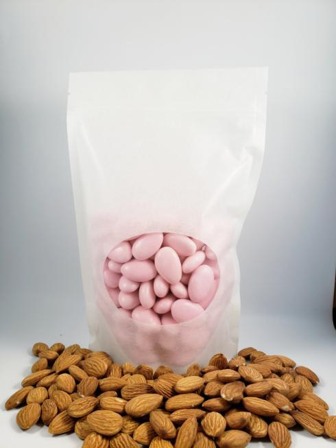 $0.00 Sugar Covered Almonds - Pink