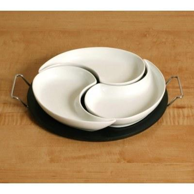 3 Piece Divider Dish with Platter collection with 1 products