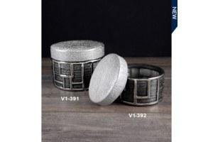 Small Silver Round Trinket Box collection with 1 products