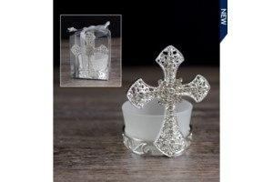 $6.49 Cross Crystals with T- Light