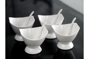 $10.99 Ice Cream Set of 4 with Spoons