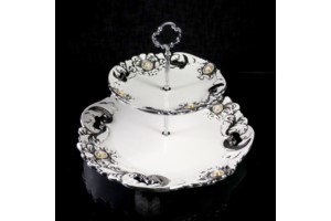 2 Tier Round Pearl Silver collection with 1 products