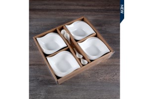 Set of 4 Dish w/spoon collection with 1 products