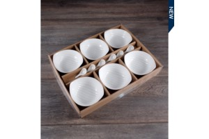 Set of 6 Bowls w/ Spoon collection with 1 products