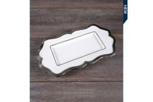 $0.00 Rectangle Platter w/silver