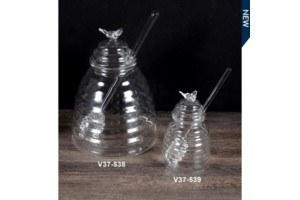 Glass Honey Jar with spoon collection with 1 products