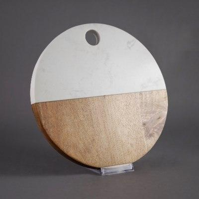 $14.99 Round Wood Marble Board