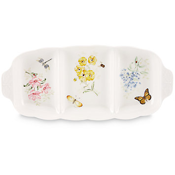 $115.00 Butterfly Meadow Divider Dish