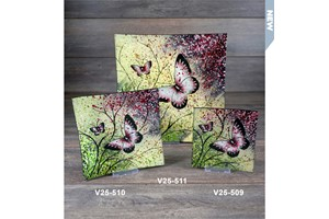 butterfly glass plate collection with 1 products