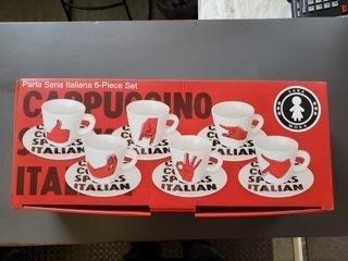 $29.99 Italian Speak Red Espresso Set of 6