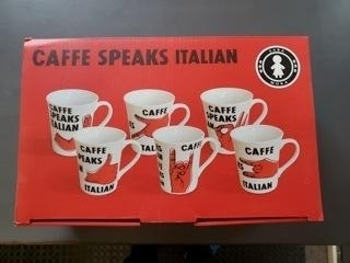 $29.99 Italian Speak Set of 6 Mugs