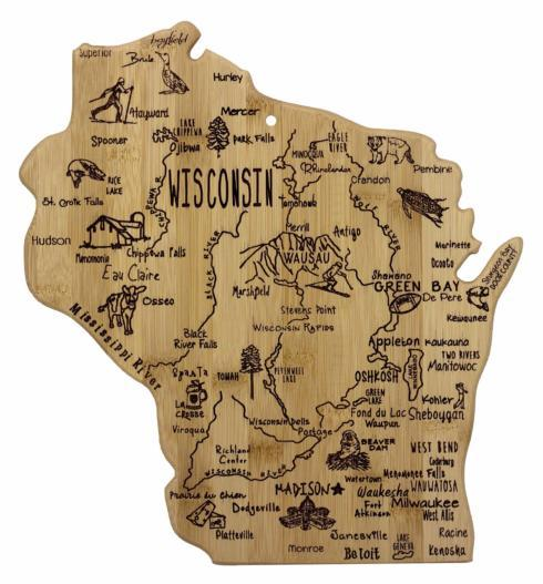 Totally Bamboo   Destination Wisconsin Cutting board $29.98