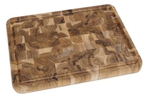 $44.99 Teak end grain cutting board, large