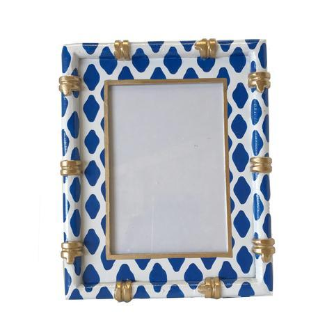 $75.00 Bamboo Frame in Parsi Blue