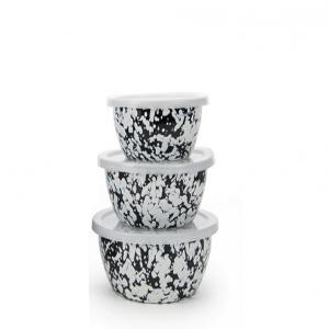Golden Rabbit  Black Black Swirl Nesting Bowls  $38.00