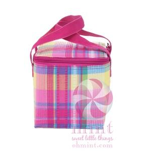 $22.00 Popsicle Plaid Bottle Bag w/Monogram