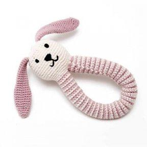 $18.95 Pink Bunny Ring Rattle