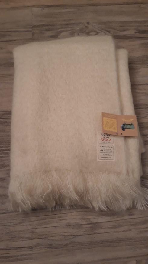 Avoca   Cream Mohair Blanket $198.00