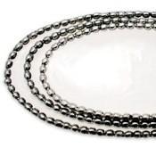 Ivory Studded Tray, Lg, Gold/Silver Studs