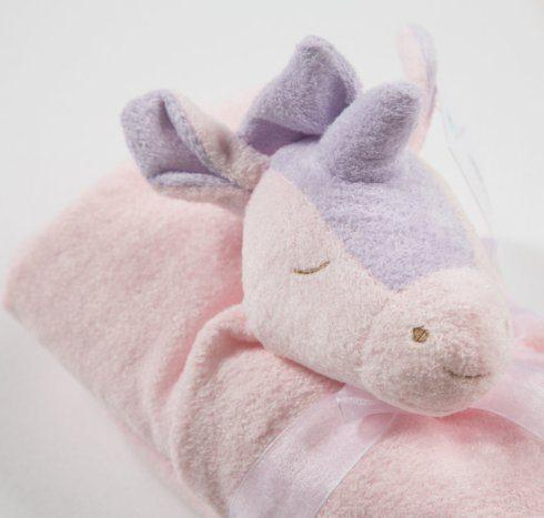 $22.00 Pink Unicorn Curved Pillow