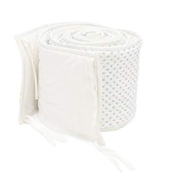 $150.00 Lilac Cross Stitch Crib Bumper