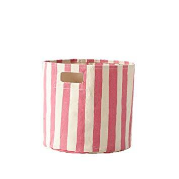 Pink Stripe Storage Bin collection with 1 products