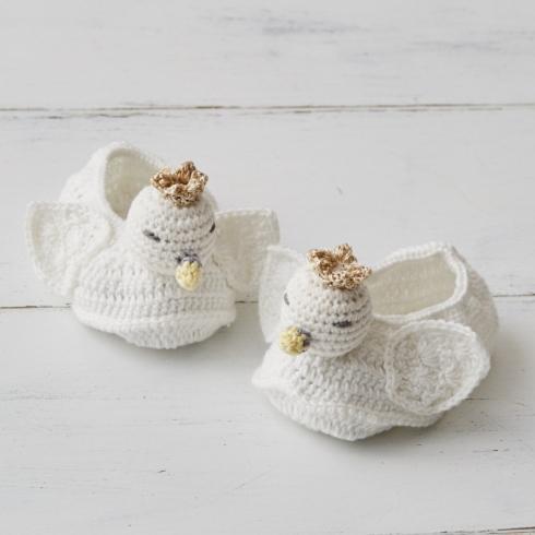 $30.00 Crochet Swan Booties