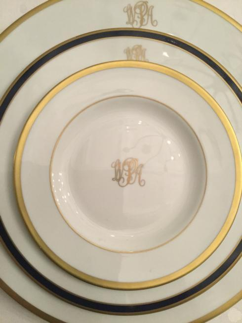 $175.00 Custom 3 Pc Place Setting Ivory w/ Gold