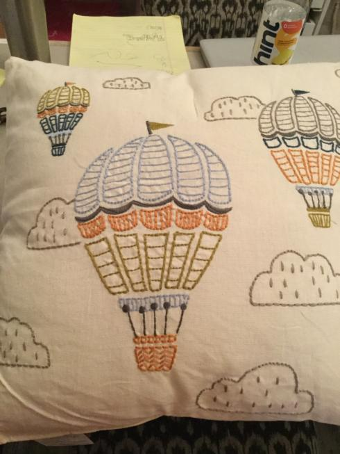 $30.00 Hot Air Balloon Pillow