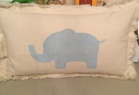 Over the Moon Exclusives   Elephant Pillow $66.00