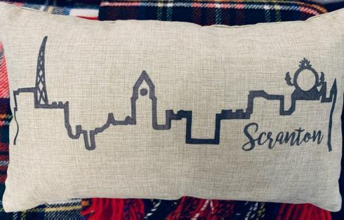 $45.00 Scranton Skyline Pillow