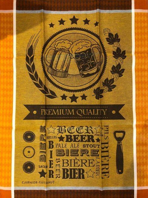 $21.00 Garnier-Thiebaut Linens Tea Towel - Beer