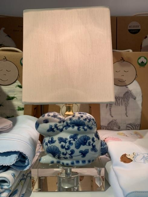 Over the Moon Exclusives   Chinoiserie Bunny Lamp $95.00