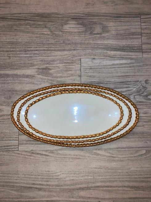$86.00 Oval Studded Platters s/3